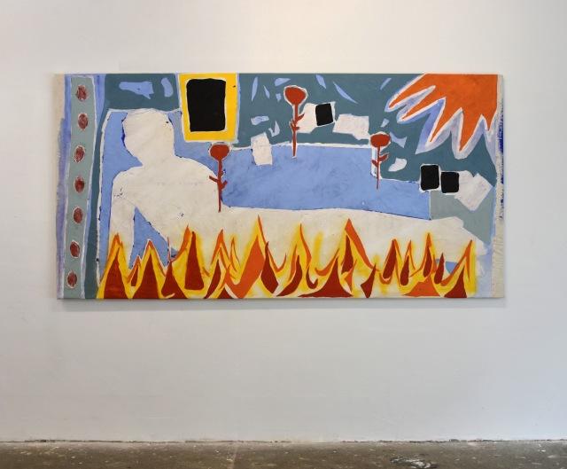 Lisette van Hoogenhuyze, Oh limp, Olie & Acryl op katoen, 300x150cm, 2019 (2)